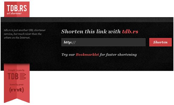 سایت كوتاه كننده ی آدرس tdb.rs -  url shorteners