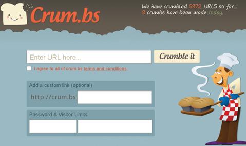 سایت كوتاه كننده ی آدرس crum.bs - url shorteners